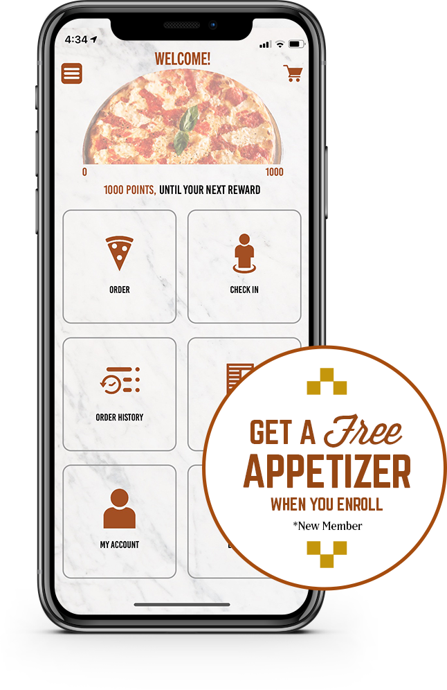 Get a free appetizer when you enroll