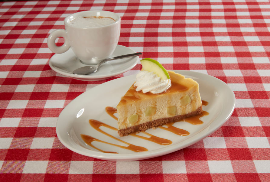Apple Cheesecake on Table